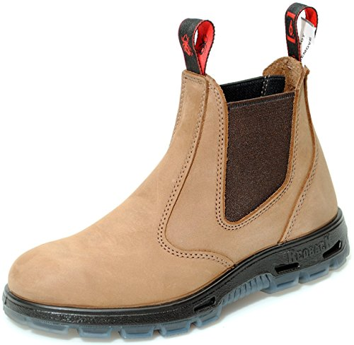 3afa9670e79b7 RedbacK Boots UBCH Mesa Crazy Horse Nubock Seude Tan Soft Toe Leather Work  Boots (US 9 M)