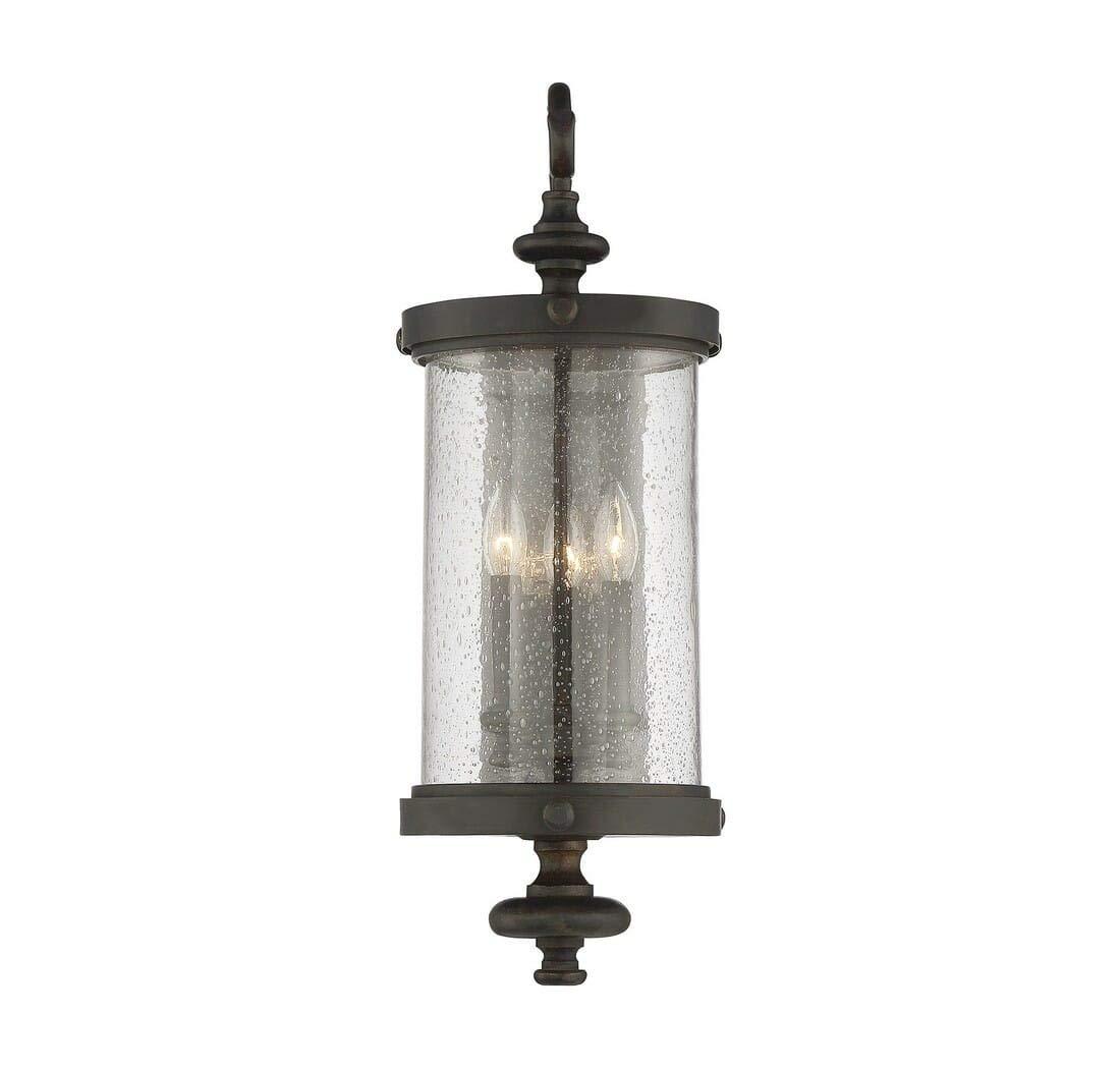 Savoy House 5-1224-40 Four Light Wall Lantern in Walnut Patina by Savoy House