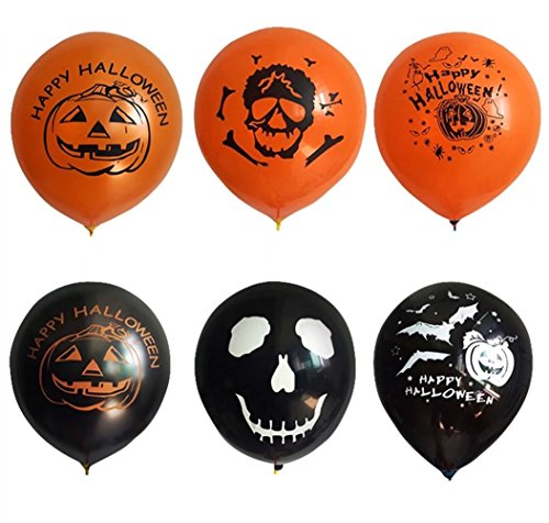 Balloons for Halloween Black and Orange Party Decoration 10