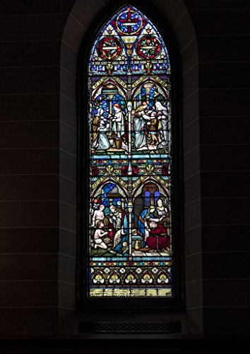 Photograph| Stained glass window inside Christ Episcopal Church in Raleigh, North Carolina, one of the first Gothic Reivival churches in the American South 4 Fine Art Photo Reproduction 30in x 44in