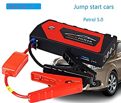 AZTEKE Car Jump Starter Car emergency start power universal charging treasure multi-function car battery car emergency starting power supply (red)