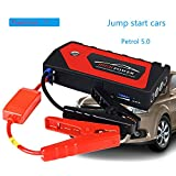 AZITEKE Car Jump Starter Car emergency start power universal charging treasure multi-function car batte (Rojo)