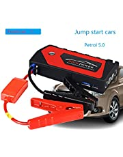 AZITEKE Car Jump Starter Car emergency start power universal charging treasure multi-function car batte (Rojo)
