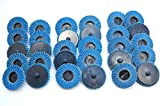 (30pc) Assorted 2'' inch Roloc Type R Flap Sanding wheels Discs Disk (40, 60, 80 grit)