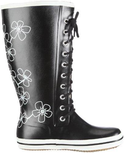 Viking Girl's Retroflower Boots Black bna9MD5Y