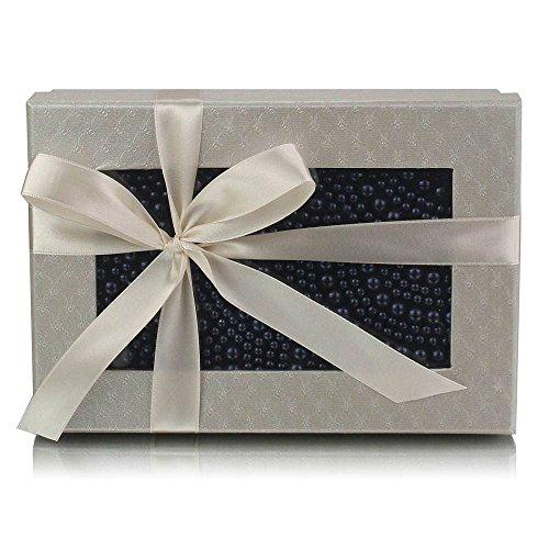 TrendStar - Bolso de mano para mujer, diseño con cuentas de cristal Azul - azul marino