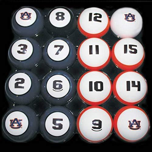 AU AUBURN TIGERS NCAA Collegiate Billiards Pool Balls Sets College