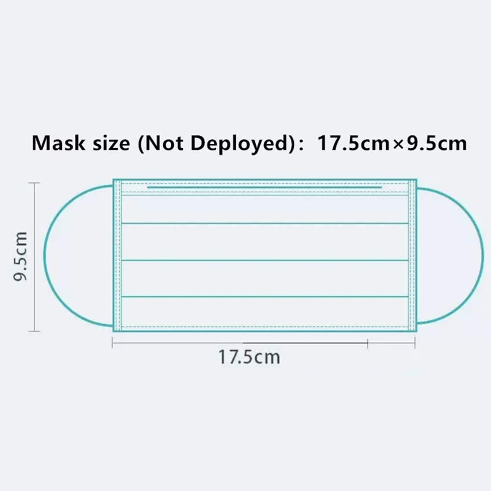 Starlit DIY Non-Woven Fabric Material for Disposable Mouth Cover 3 Layers Fabric can be DIY Finished Product A# Nose Bridge Strip and Ear Band