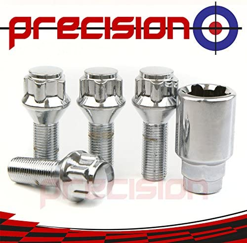 Precision Chrome Locking Bolts for Ṕeugeot RCZ with Aftermarket Alloy Wheels Part No.B22293
