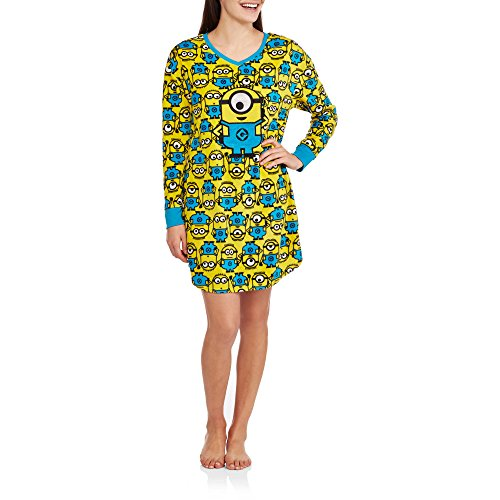Despicable Me Minions Women's Fleece Sleep Night Shirt (S/M (6-10)) (Chip And Dale Costumes)