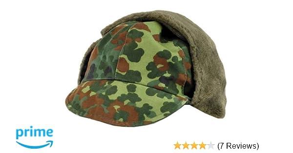1d2719c5e7dec6 Amazon.com: German Army (Bundeswehr) Winter Cap - FLECKTARN CAMO: Clothing