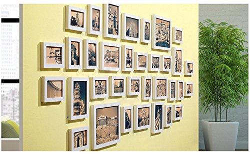Set di Solide Cornici in Legno per Foto - Set di 7 Cornici ...