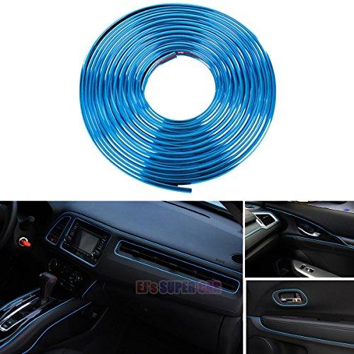 EJ's SUPER CAR 3D DIY 5 Meters Electroplating color film Automobile Car motor Interior Exterior Decoration Moulding Trim Strip line Sticker (Blue)