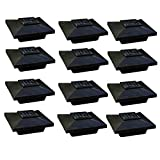 Cheap (12 Pack) Solar Post Cap Low Profile 4 SMD LED Off 4″X4″ PVC Fence Post With Adapter for 3.5″ x 3.5″ Wood Post (Black)