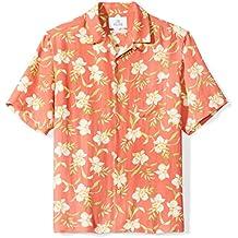 28 Palms Men's Relaxed-Fit Silk/Linen Tropical Hawaiian Shirt