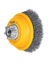 DEWALT DW4920 3-Inch by 5/8-Inch-11 Crimped Cup Brush/Carbon ...