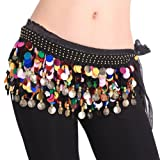 BellyLady Plus Size Belly Dance Hip Scarf with Paillettes, Idea