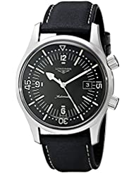 Longines Mens L3.674.4.50.0 Sports Legends Black Dial Watch