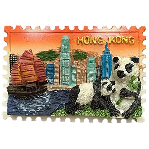 Victoria Harbour Hong Kong World Fridge Magnet 3D Resin Collection Travel Souvenir Tourist Gift Home and Kitchen Decoration Refrigerator Magnetic Sticker