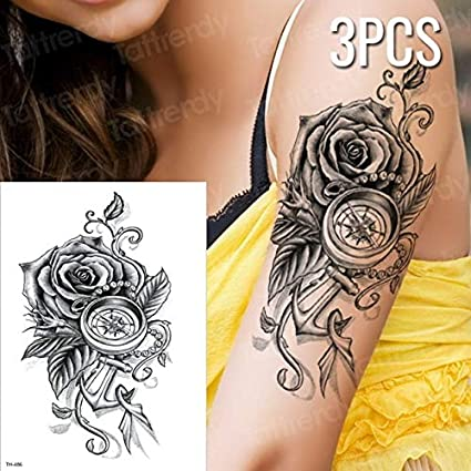 HXMAN 3unciones / Lote Tatuajes Falsos Pegatinas Árabes Temporal ...
