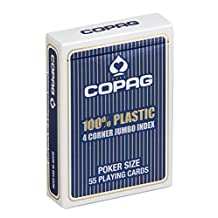 Copag Poker Size Jumbo Index Single Playing Cards Deck (Blue Back)
