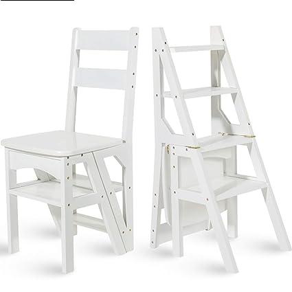 Wcs Scaletta Multifunzione Per Uso Domestico In Legno Massello Ikea