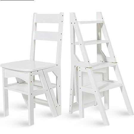 Cucina Legno Bambini Ikea Usata.Geyao Scaletta Multifunzione Per Uso Domestico In Legno Massello