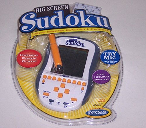 Big Screen SUDOKU Handheld Electronic Game (NEW) by Radica