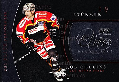 (CI) Rob Collins Hockey Card 2009-10 German DEL Premium Elite Performers 2 Rob Collins (Single Elite 2009 City)