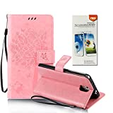 OuDu Tree&Butterfly Printing Pattern Case for Samsung Galaxy Note 3 PU Leather Cover Flip Wallet Shell Stand Function Bumper with Magnetic Closure & Card Slots - Pink (Gift:1 Screen Protector)