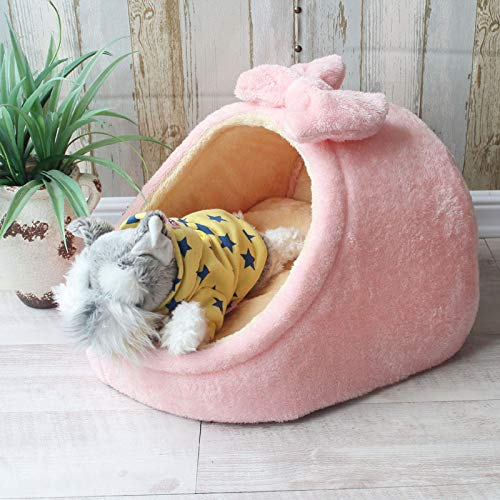 Flyingpets Dog Pillow Bed - Dog Bed Pillow - Large Dog Bed Pillow - Pet Bed Dog House Kennel Puppy Cat Litter Bed Home Shape Nest Sofa Indoor Small Dogs Cats Cushion Removable Pillow Chihuahua Mat. by Flyingpets (Image #3)