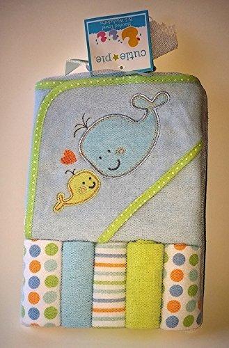 Cutie Pie Hooded Towel & 5 Washcloths