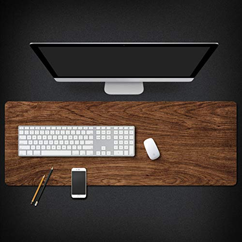 Professional Marble Computer Desk Mat,Wood Grain Anti-fray Cloth Waterproof Gaming Mouse Pad,Computers Keyboard Pad - Multifunctional -e 40x90x0.3cm(16x35x0.11inch)