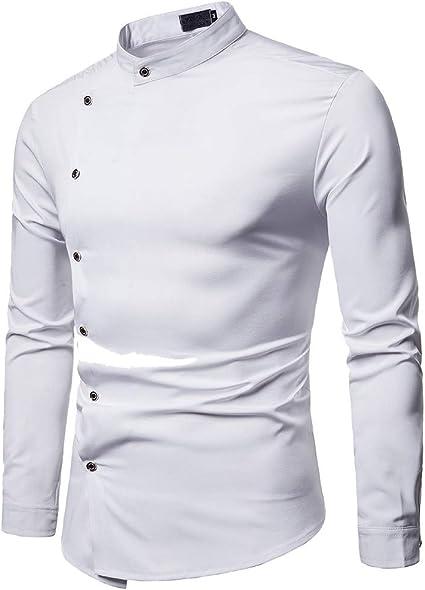 SoonerQuicker Camisas Hombre Manga Camisa Slim Fit Casual de Primavera para Hombre Camisa con Botones de Manga Larga Top Blusa - 2019 última Camisa Casual cómoda: Amazon.es: Ropa y accesorios