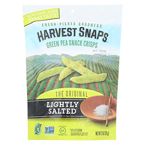 Calbee Harvest Snaps Snapea Crisps - Lightly Salted - Case of 12 - 3.3 oz. ()