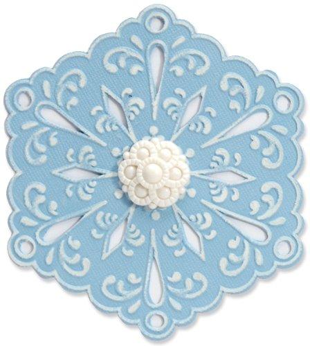 Sizzix Bigz Die with Bonus Textured Impressions - Snowflake #4 by Beth Reames by Sizzix