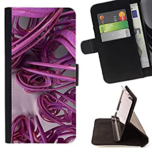 Jordan Colourful Shop - 3D lines abstract plastic art For Apple Iphone 6 - Leather Case Absorci???¡¯???€????€?????????&At