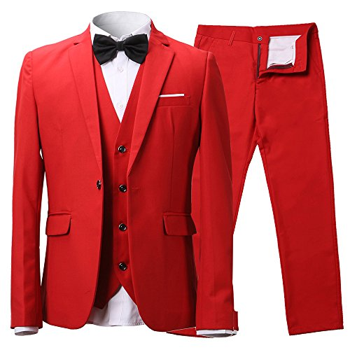 Red 3 Piece Suit - 8
