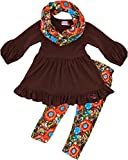 Angeline Boutique Clothing Girls Fall Thanksgiving Vintage Floral Legging Set 4T