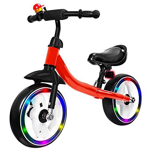 - Verkstar Kids Balance Bike No Pedal Walking Sport Bicycle, Adjustable Training Toddler Bike for 2 to 6 Year Old Boys & Girls (Red)