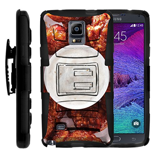 TurtleArmor | Compatible for Samsung Galaxy Note 4 Case | N910 [Hyper Shock] Armor Hybrid Hard Shell Protector Hard Stand Fitted Holster Belt Clip Case Food Image - Buffalo Chicken Wings]()