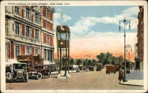 Fifth Avenue at 57th Street New York, New York Original Vintage - Avenue Street 5th 57th