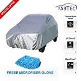 Fabtec Silver Car Body Cover With Microfiber Glove Free For Honda Amaze