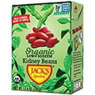 Jack's Organic Kidney Beans (8 PACK) – Filled with Protein & Fiber, Heart Healthy, Low Sodium, Non GMO, BPA Free, Ready-to-Eat, 100% Sustainable Packaging with Easy Open Tearstrip, [13.4oz cartons]