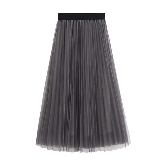 Mujeres Faldas Elegantes Largo Faldas Mujer Verano Faldas Invierno ...