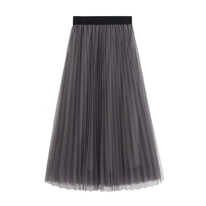 8102e6023 Mujeres Faldas Elegantes Largo Faldas Mujer Verano Faldas Invierno  Primavera Vestidos Mujer Moda Alta Cintura Fold Soild Vintage Suelta Playa  Abrigo