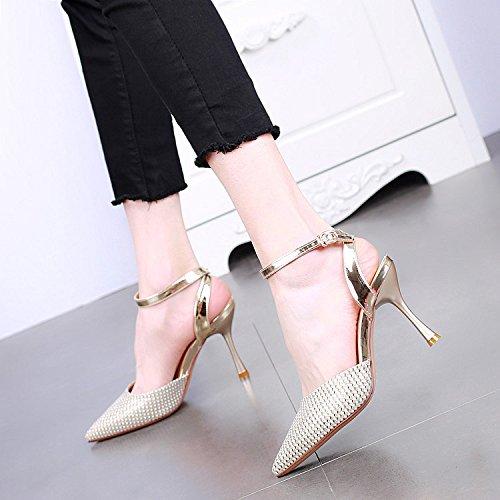 punta a nbsp; a per I YMFIE nbsp; punta spillo con tacco nbsp;eleganti sono alto sandali con banchetti festa tacchi Silver alti da xSwz8O