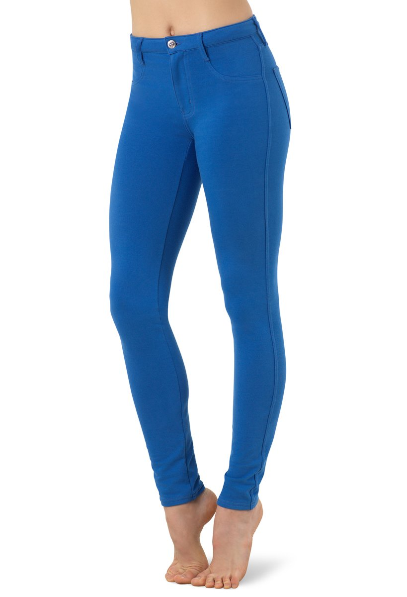 Balera Jeggings Womens Denim Leggings For Dance Girls Pants With Mid Rise Fit and Bright Colors Royal Adult Medium by Balera