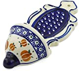 Polish Pottery 7¾-inch Wall Pocket (Pumpkin Spice Theme) + Certificate of Authenticity