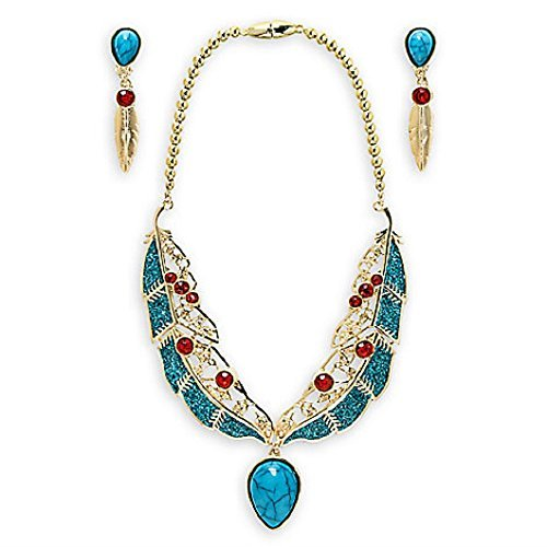 DISNEY STORE PRINCESS POCAHONTAS COSTUME JEWELRY SET NECKLACE ~ 2017